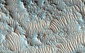 Jezero Crater,Mars,satellite image
