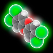 TCDD dioxin molecule