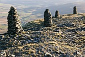 Cairns on Wild Boar Fell,UK