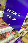 Low fat food in a supermarket