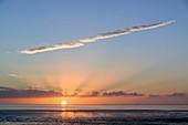 Sunset over Morecambe Bay,Cumbria,UK