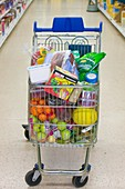 A full trolley of food