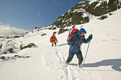 Climbers in Coire Lagan,UK