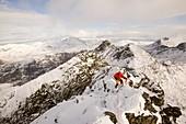 Climber on Sgurr Alasdair,UK