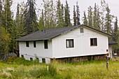 House in Fairbanks Alaska collapsing