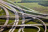 Motorway junction,Texas,USA