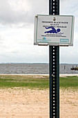 Beach water quality sign
