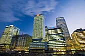 Canary Wharf in London UK