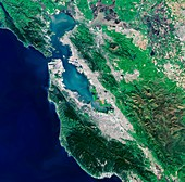 San Francisco Bay area,satellite image