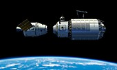 Orbital maintenance docking,artwork