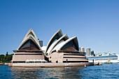 Sydney Opera House and large cruise liner