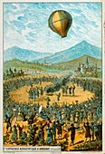 First hot air balloon demonstration