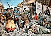 Cholera amongst famine victims in China