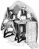 Preparing cards for a Jacquard loom