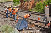 Railway track maintenance