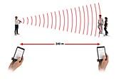 Measuring speed of sound,illustration