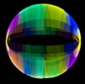Multicoloured light trails