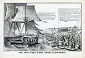 California Gold Rush satire,1849