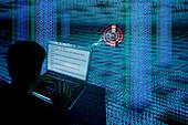 Hacking the internet,illustration