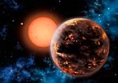 Exoplanet Gliese 876 d,illustration