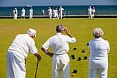 Seniors playing bowls at Penzance