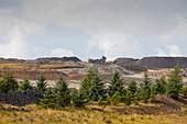 The Glentaggart open cast coal mine