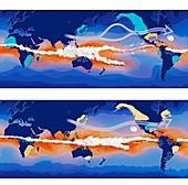 El Nino and La Nina compared