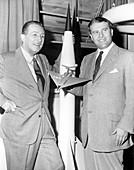 Wernher von Braun and Walt Disney