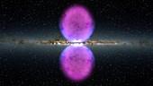 Milky Way gamma-ray bubbles,illustration