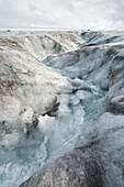 Meltwater on Langjokull ice cap,Iceland
