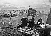 Collective farm propaganda,USSR,1933