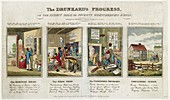 The Drunkard's Progress,1820s