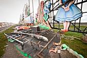 Storm damage to Blackpool illuminations