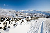 Kirkstone Pass,UK,in winter