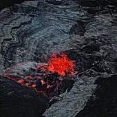 Lava fountain,Erta Ale volcano,Ethiopia