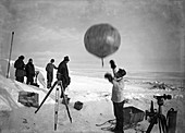 Antarctic weather balloon research,1912