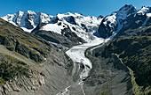 Morteratsch Glacier,Bernina,Switzerland