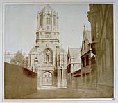 Christchurch gate,1840s calotype print