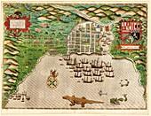 Drake's attack on Santo Domingo,1586