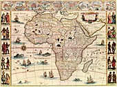 Map of Africa,17th century