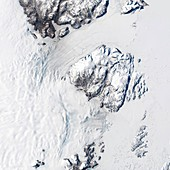 Melting Greenland glaciers,August 2014