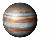 Jupiter from space,illustration