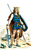 Gallic warrior,19th Century illustration