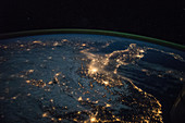 Europe at night,ISS image