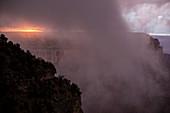 Sunset over the Grand Canyon,USA