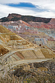 Open-cast copper mine,New Mexico,USA