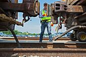 Rail yard,Michigan,USA