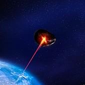 Asteroid deflection,illustration