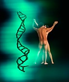 DNA,sex and love,concept