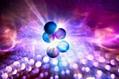 Nuclear fusion,conceptual image